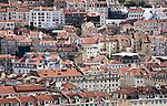 Häusermeer der Altstadt (Baixa) von Lissabon, Portugal