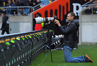 Getty Images photographer Phil Walter during the Bledisloe Cup rugby union match between the New Zealand All Blacks and Australia Wallabies at Sky Stadium in Wellington, New Zealand on Sunday, 11 October 2020. Photo: Dave Lintott / lintottphoto.co.nz