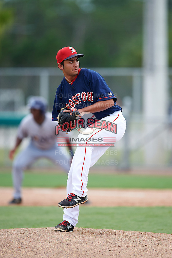 GCL Red Sox relief pitcher Nicolo Clemente (19) during the first game of a doubleheader against the GCL Rays on August 9, 2016 at JetBlue Park in Fort Myers, Florida.  GCL Rays defeated GCL Red Sox 5-4.  (Mike Janes/Four Seam Images)