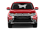 Car photography straight front view of a 2017 Mitsubishi Outlander GT 5 Door SUV Front View