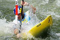 04th September 2021; Parc Olimpic del Segre, La Seu D'Urgell ICF Slalom World Cup, men's Kayak Final; 3rd Place for Peter Kauzer (SLO)