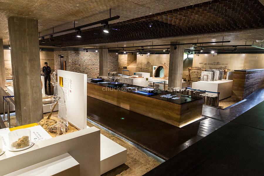 Suzhou, Jiangsu, China.  Exhibit Room in the Suzhou Museum of Imperial Kiln Brick.