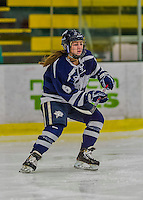 14 February 2015: University of New Hampshire Wildcat Forward Jonna Curtis, a Sophomore from Elk River, MN, in first period action against the University of Vermont Catamounts at Gutterson Fieldhouse in Burlington, Vermont. The Ladies played to a 3-3 tie in their final meeting of the NCAA Hockey East season. Mandatory Credit: Ed Wolfstein Photo *** RAW (NEF) Image File Available ***