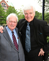 Richard Barclay poses with actor Charles Durning at the Gala Awards Ceremony of the 2008 Hoboken International Film Festival which concluded  with Billy Dee Williams being presented the Lifetime Achievement Award and then nominees and winners were announced on June 5, 2008 at Pier A Park, Hoboken, New Jersey.  (Photo by Sue Coflin/Max Photos)