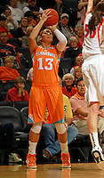 CHARLOTTESVILLE, VA- NOVEMBER 20: Taber Spani #13 of the Tennessee Lady Volunteers shoots the ball during the game on November 20, 2011 against the Virginia Cavaliers at the John Paul Jones Arena in Charlottesville, Virginia. Virginia defeated Tennessee in overtime 69-64. (Photo by Andrew Shurtleff/Getty Images) *** Local Caption *** Taber Spani