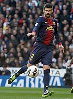 FC Barcelona's Gerard Pique during La Liga match.March 02,2013. (ALTERPHOTOS/Acero) /NortePhoto