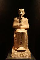ITALIA - Torino - Museo Egizio  Il dio Ptah ..Il dio impugna i segni geroglifici ged e uas stabilità e forza ..I nomi del dio e del farone figurano ai lati del corpo..La testa originale perduta è stata sostituita da una in gesso (Calcare e gesso, Tempio di Amon, tebe)