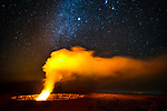 Milky Way over Halemaumau Crater, Hawaii Volcanoes National Park, Hawaii, USA<br /> <br /> This is the most primordial of images, a vision of Earth at its very infancy in the universe.