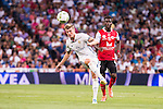 Real Madrid's player Toni Kroos and Stade de Reims's player Balde during the XXXVII Santiago Bernabeu Trophy in Madrid. August 16, Spain. 2016. (ALTERPHOTOS/BorjaB.Hojas)