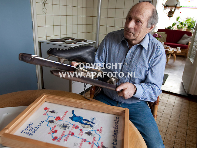 Elst(GLD) 140108<br /> Oud Elfstedenrijder Holwerda.<br /> Foto: Sjef Prins - APA Foto