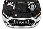 Car Stock 2021 Audi Q5-Sportback Premium 5 Door SUV Engine  high angle detail view