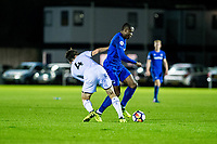 Friday 27 October 2017<br /> Pictured: Jack Evans of Swansea in action <br /> Re: Swansea City U23 v Everton U23 Premier League 2 match at the Landore Training facility, Swansea, Wales, UK