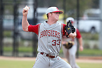 Indiana Hoosiers Reed Reznicek #33 during a game vs UMass at Lake Myrtle Main Field in Auburndale, Florida;  March 16, 2011.  Indiana defeated UMass 11-10.  Photo By Mike Janes/Four Seam Images