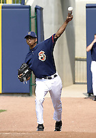 June 7, 2004:  Rafael Perez of the Lake County Captains, Low-A South Atlantic League affiliate of the Cleveland Indians, during a game at Classic Park in Eastlake, OH.  Photo by:  Mike Janes/Four Seam Images