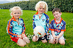 Enjoying the Cúl Camps in Churchill on Tuesday. L to r: Sonny Walsh, Charlie and Eddie O'Sullivan