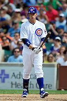 Chicago Cubs Bryan LaHair #6 during a game against the Houston Astros at Wrigley Field on June 29, 2012 in Chicago, Illinois.  Chicago defeated Houston 4-0.  (Mike Janes/Four Seam Images)