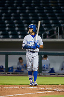 AZL Royals designated hitter MJ Melendez (6) at bat against the AZL Cubs on July 19, 2017 at Sloan Park in Mesa, Arizona. AZL Cubs defeated the AZL Royals 5-4. (Zachary Lucy/Four Seam Images)