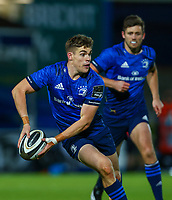 2nd October 2020; RDS Arena, Dublin, Leinster, Ireland; Guinness Pro 14 Rugby, Leinster versus Dragons; Garry Ringrose (Leinster) prepares to pass the ball