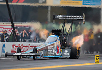 Sep 13, 2019; Mohnton, PA, USA; NHRA top fuel driver Antron Brown during qualifying for the Keystone Nationals at Maple Grove Raceway. Mandatory Credit: Mark J. Rebilas-USA TODAY Sports