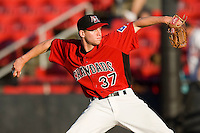 Starting pitcher Neil Ramirez #37 of the Hickory Crawdads in action against the Greenville Drive at  L.P. Frans Stadium May 8, 2010, in Hickory, North Carolina.  Photo by Brian Westerholt / Four Seam Images