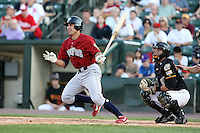 July 1st 2008:  Third baseman Mike Cervenak of the Lehigh Valley IronPigs, Class-AAA affiliate of the Philadelphia Phillies, during a game at Frontier Field in Rochester, NY.  Photo by:  Mike Janes/Four Seam Images