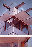 Norton House, Venice Beach, 1986. Designed by Frank Gehry in Post-Modern style.  Photo, April 2000.