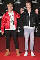 DJ Ofenbach (Cesar Laurent de Rummel et Dorian Lauduique) arrivent sur le Tapis Rouge / Red Carpet avant la Ceremonie des 19 EME NRJ MUSIC AWARDS 2017, Palais des Festivals et des Congres, Cannes Sud de la France, samedi 4 novembre 2017.