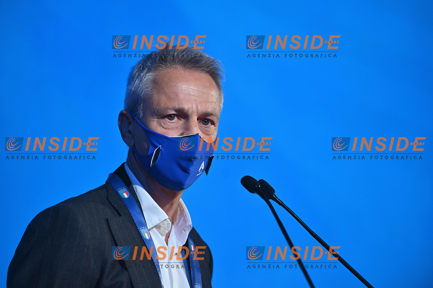 ROME, ITALY - FEBRUARY 22:  Lega Serie A Paolo Dal Pino attends the FIGC Elective Assembly at Cavalieri Waldorf Astoria Hotel on February 21, 2021 in Rome, Italy.  <br /> Photo Marco Rosi / FIGC / Insidefoto