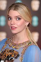 Anya Taylor-Joy<br /> at the 2017 BAFTA Film Awards held at The Royal Albert Hall, London.<br /> <br /> <br /> ©Ash Knotek  D3225  12/02/2017