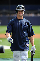 New York Yankees outfielder Brett Gardner #11 during a game against the Baltimore Orioles at Yankee Stadium on September 5, 2011 in Bronx, NY.  Yankees defeated Orioles 11-10.  Tomasso DeRosa/Four Seam Images