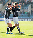 Dundee's Peter MacDonald celebrates after he scores their second goal.