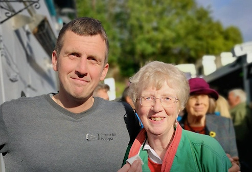 """So this is what you do?"" Tom with his mother Ann in Kinsale, May 2019"