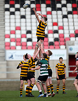 Tuesday 10th March 2020 | Campbell College vs RBAI <br /> <br /> Callum Simms during the 2020 Medallion Shield Final between Campbell College and RBAI at Kingspan Stadium, Ravenhill Park, Belfast, Northern Ireland. Photo by John Dickson / DICKSONDIGITAL
