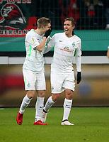 06.02.2018, Bay - Arena, Leverkusen, GER, DFB-Pokal, Bayer 04 Leverkusen vs Werder Bremen<br /> , <br />Max Kruse (Bremen) celebrates ueber das goal  1:0 *** Local Caption *** © pixathlon<br /> Contact: +49-40-22 63 02 60 , info@pixathlon.de