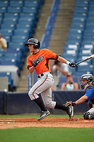 Cam Shepherd (6) of Peachtree Ridge High School in Duluth, Georgia playing for the Baltimore Orioles scout team during the East Coast Pro Showcase on July 28, 2015 at George M. Steinbrenner Field in Tampa, Florida.  (Mike Janes/Four Seam Images)