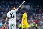 Real Madrid Borja Mayoral celebrating a goal during Santiago Bernabeu Trophy match at Santiago Bernabeu Stadium in Madrid, Spain. August 11, 2018. (ALTERPHOTOS/Borja B.Hojas)
