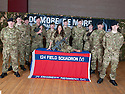 Miss Scotland, Nicole Treacy, helps raise awareness of the TA and it's vital role as she meets troops from 124 Field Squadron, The Royal Engineers TA in Cumbernauld ?