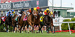 April 30, 2021 : Fast Boat, #8, ridden by jockey Irad Ortiz Jr., wins the Twin Spires Turf Sprint on Kentucky Oaks Day at Churchill Downs on April 30, 2021 in Louisville, Kentucky. Candice Chavez/Eclipse Sportswire/CSM