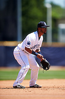 Lake County Captains third baseman Ordomar Valdez (20) during a game against the South Bend Cubs on July 27, 2016 at Classic Park in Eastlake, Ohio.  Lake County defeated South Bend 5-4.  (Mike Janes/Four Seam Images)