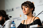 "Spanish actress Oona Chaplin during the press conference of the presentation of the film ""Proyecto Lazaro"" at the Festival de Cine Fantastico de Sitges in Barcelona. October 07, Spain. 2016. (ALTERPHOTOS/BorjaB.Hojas)"