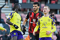 Dominic Solanke of AFC Bournemouth middle scores the second goal and celebrates during AFC Bournemouth vs Huddersfield Town, Sky Bet EFL Championship Football at the Vitality Stadium on 12th December 2020