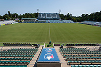 CARY, NC - SEPTEMBER 12: Sahlen's Stadium before a game between Portland Thorns FC and North Carolina Courage at WakeMed Soccer Park on September 12, 2021 in Cary, North Carolina.