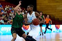 GRONINGEN - Basketbal, Donar - Groen Uilen, voorbereiding seizoen 2021-2022, 21-08-2021,  Donar speler Amanze Egekeze