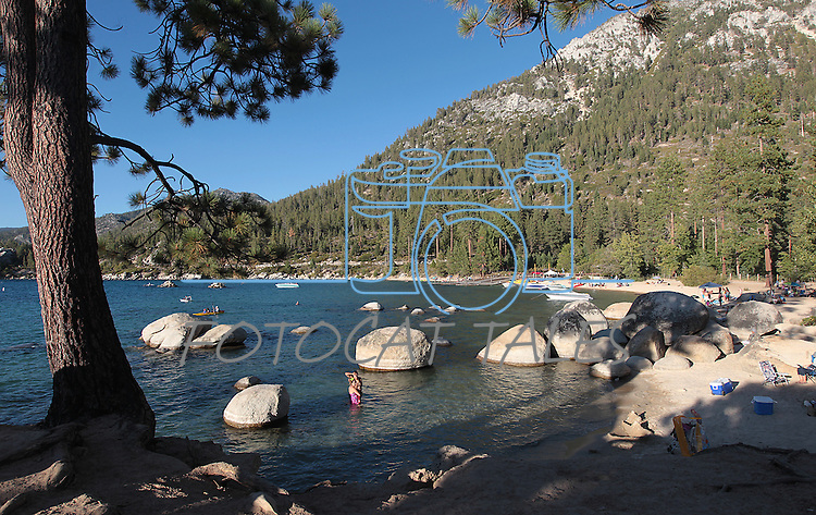 Sand Harbor on the east shore of Lake Tahoe, near Incline Village, Nev., on Saturday, Aug. 25, 2012..Photo by Cathleen Allison