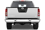 Straight rear view of a 2009 Nissan Frontier Crew Cab SE