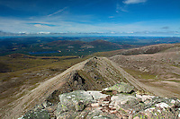 Loch Morlich and Meall a Bhuachaille from Fiacaill Buttress, The Northern Corries, Cairngorm National Park, Badenoch and Speyside, Highland