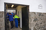 Fraserburgh 2 Strathspey Thistle 2, 06/11/2010. Bellslea Park, Highland League. Supporters paying their admission money at the turnstile at Bellslea Park, home of Fraserburgh FC, prior to the club's Highland League fixture against visitors Strathspey Thistle. Nicknamed 'The Broch,' Fraserburgh have been members of the Highland League since 1921 having been formed 11 years earlier. The match ended in a 2-2 draw in front of a crowd of 302. Photo by Colin McPherson.