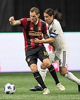 Atlanta, GA - March 17, 2018: Atlanta United FC vs Vancouver Whitecaps FC at Mercedes-Benz Stadium.  Final score Atlanta United 4, Vancouver Whitecaps 1.