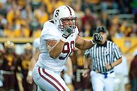 TEMPE, AZ - November 13, 2010: Matt Masifilo during a football game at Arizona State University in Tempe, Arizona. Stanford won 17-13.