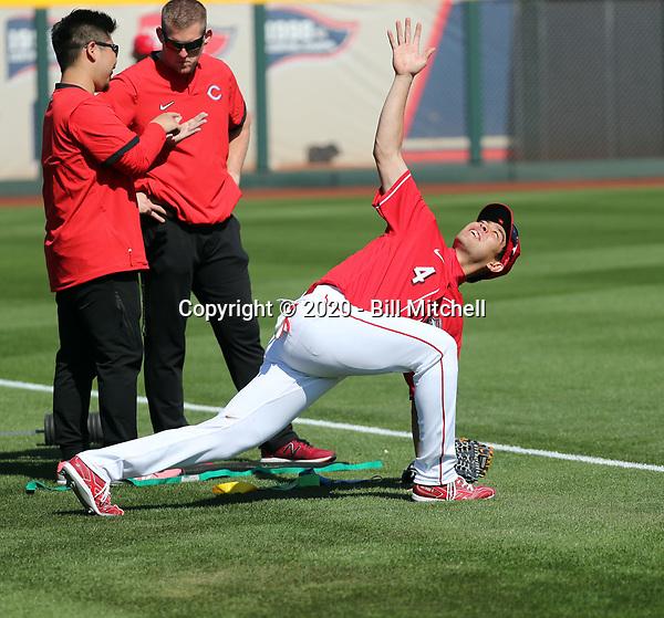 Shogo Akiyama - Cincinnati Reds 2020 spring training (Bill Mitchell)